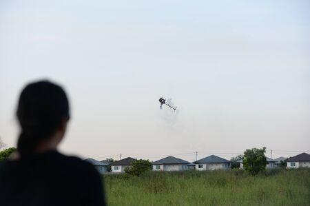 Blur background, helicopter commander 免版税图像