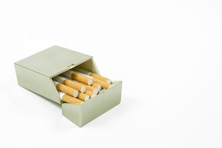 Cigarettes opened on Background with copy space 版權商用圖片