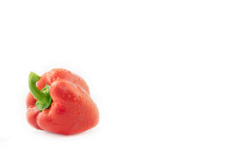 bell pepper with vitamins for food isolated on white with copy space Archivio Fotografico