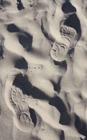 shoeprint: Shoeprint on the beach
