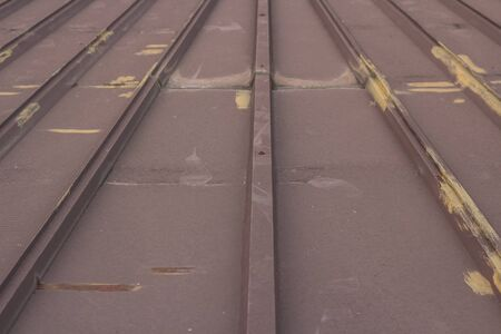Brown iron roof Stock Photo - 18937564