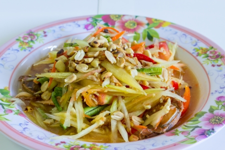 Thai papaya salad food photo