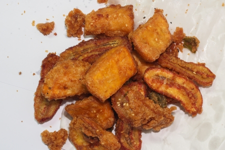 platanos fritos: Fried bananas - alimentos Tailandia
