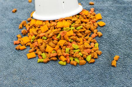 granules: Cat Food, granules, on Grey background