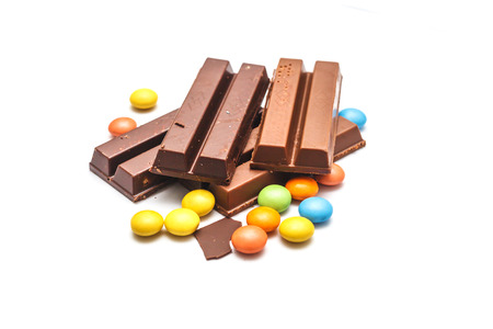 colorful beads: Wafer chocolate and chocolate Colorful beads