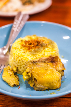 exotically: Chicken Biryani ,Thailand foods khao mok gai Stock Photo