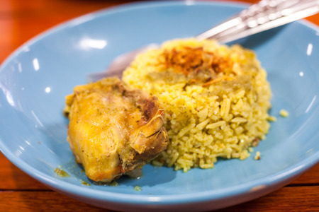 safran: Chicken Biryani ,Thailand foods khao mok gai Stock Photo
