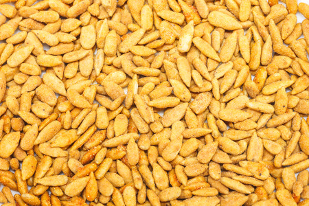 easier: Sunflower seed shell out to make it easier to eat. Stock Photo
