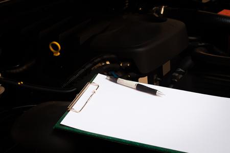 auto repair: checking car engine and Auto Repair Stock Photo