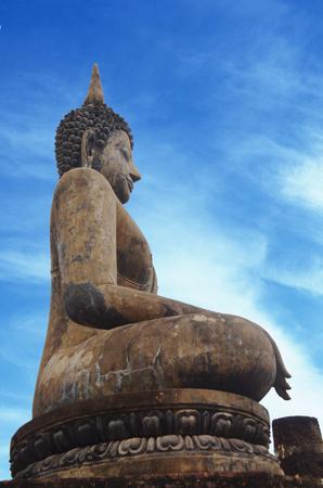 sukhothai: Sukhothai buddha in Sukhothai historical park,thailand