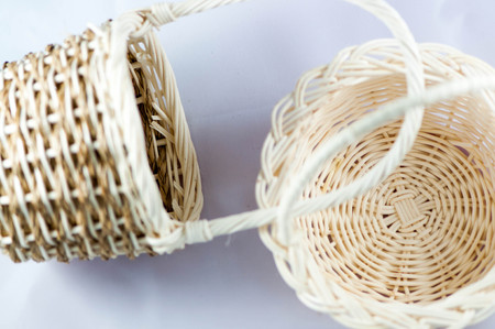 wicker: wicker baskets