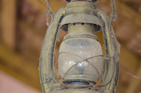 hurricane lamp: Old and rusty hurricane lamp