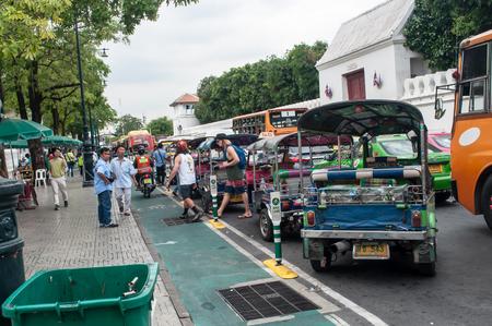 tuk: Tuk Tuk for passenger cars. Bangkok, Thailand