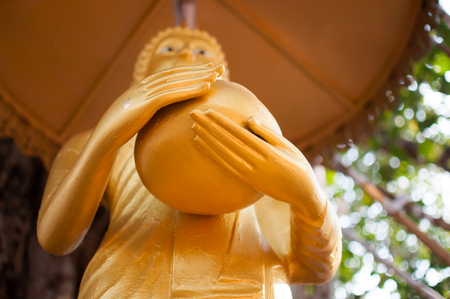 villagers: Buddha was donated to the shared villagers Stock Photo