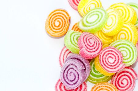 jellybean: colorful confectionery isolated on white background Stock Photo