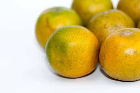 rinds: fresh oranges isolated on white background