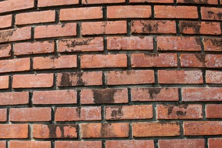 red brick: old red brick wall texture background