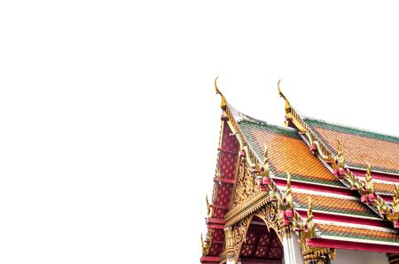Temple roof of thailand isolated on white background Stock Photo