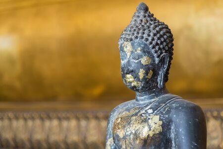 baddha: Close up of Black Buddha.