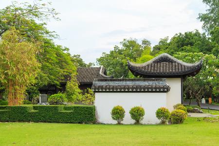 chinese garden: Chinese garden at suan luang rama 9. Stock Photo