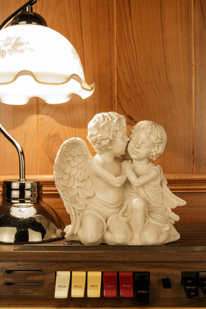 chorale: little white angel Stock Photo