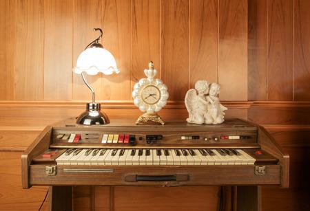 chorale: Vintage piano keys