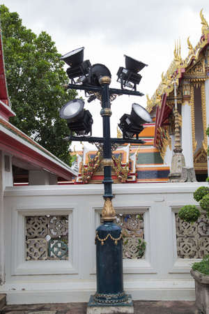 wat pho: Lantern at Wat Pho Stock Photo