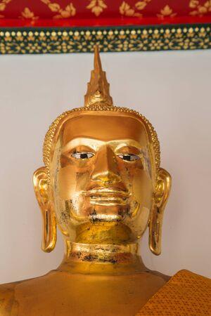 transcendental: Golden buddha statue at Wat Pho, Bangkok Stock Photo