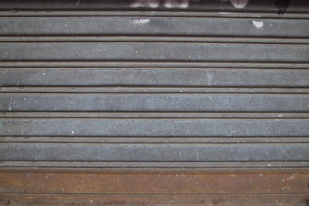 shutter: steel roller shutter door Stock Photo