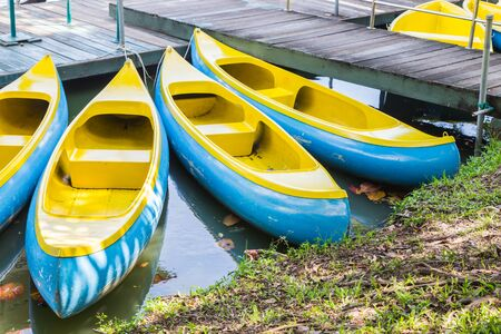 yellow boats: Yellow  Boats in the public park