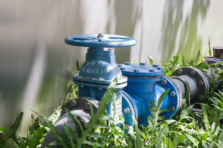 Pipeline water valve on ground