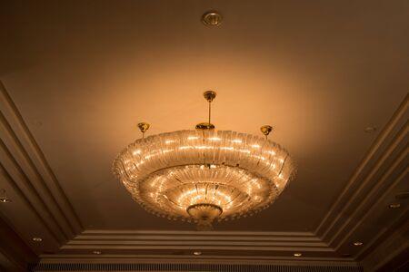 light fixture: Light fixture hanging from ceiling.