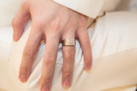 newly married: Wedding rings on newly married hands