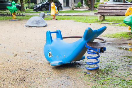 playground equipment: A colourful children playground equipment.