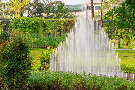 garden fountain: Water splash in garden fountain spreader