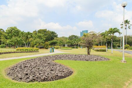 chillout: Chatuchak park in bangkok Thailand is a very popular place for chill-out or exercise. Stock Photo