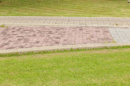 paving: texture of brick paving walkway
