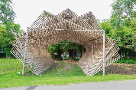 entrance arbor: Beautiful bamboo tunnel