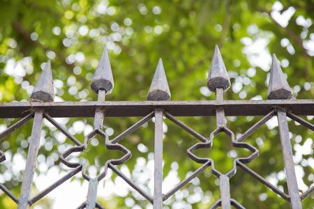 old metal: Old metal fence