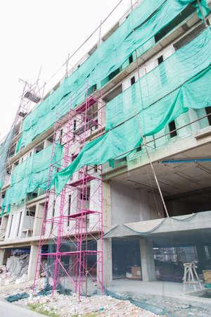 andamios: edificios andamios de construcción