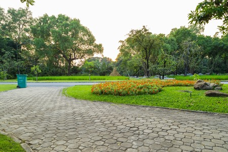walkway in the park,Suanluang RAMA IX