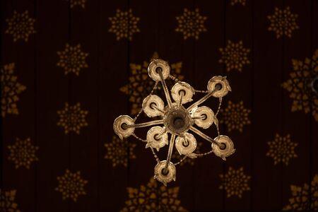 crystal chandelier: beautiful crystal chandelier Stock Photo