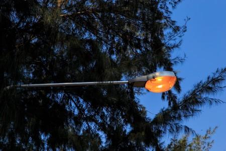 Street lamp Standard-Bild
