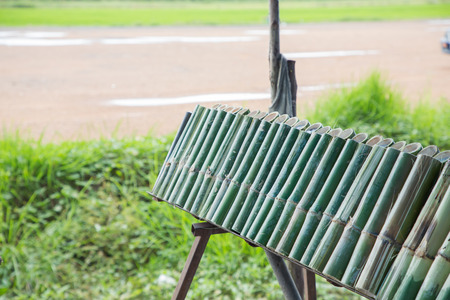 Burn Lam Khao Lam은 태국의 디저트로, 대나무 통에서 구운 찹쌀로 만들어 화상을 입습니다.
