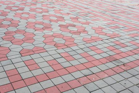Pattern of grey brick block texture background. Standard-Bild