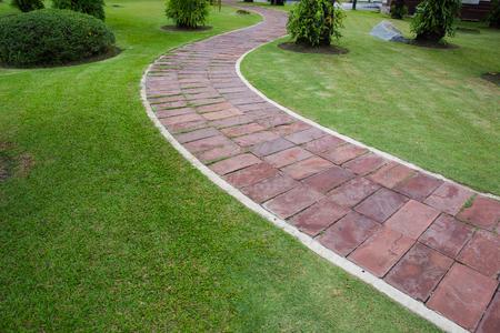 Pave Clay tiled walkway. Standard-Bild