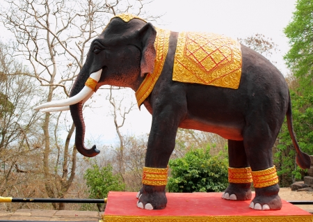 rung: Elephant at phanom rung stone castle Stock Photo