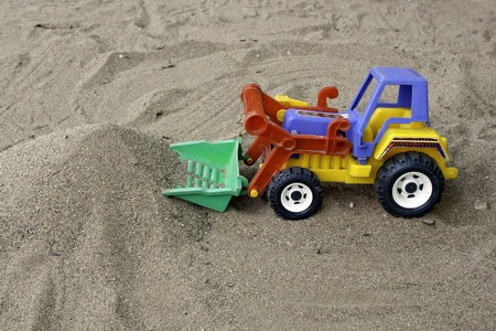 the truck on sand photo
