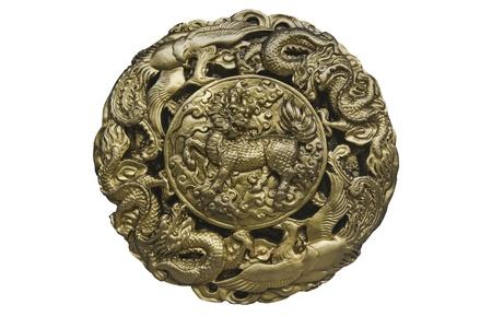 Ancient design of horse dragon photo