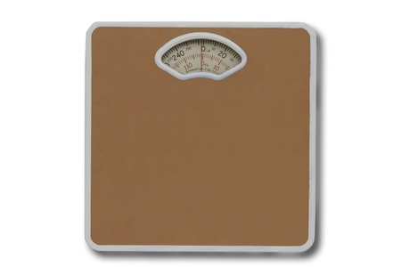 bathroom scale: weight scale isolated